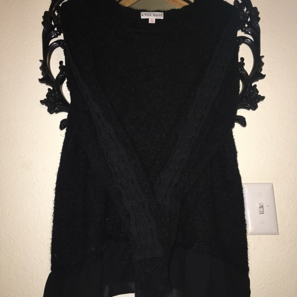 Black sweater XL gothic styled